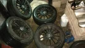 4x 5 stud fox alloy wheels fit celica