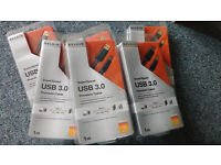 NEW 6x USB 3.0 1m Male A to Male B Belkin Premium Cables