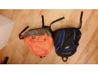 one PUMA backpack orange and one backpack REEBOK blue and black excellent condition