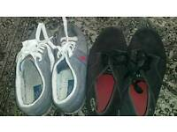 Size 9 Ralph Lauren bollingbrook trainers and lacoste pumps