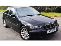 2003 53 BMW 316TI ES COMPACT MOT 07/17 BLACK(PART EX WELCOME)