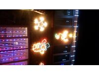 Christmas Star Wall Mounted Blue & White Outdoor Light