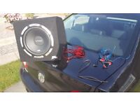 Vibe Active Subwoofer + All cables included + Brand new Adaptor for easy install