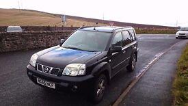 Nissan x trail 55 plate 4x4 petrol, great jeep