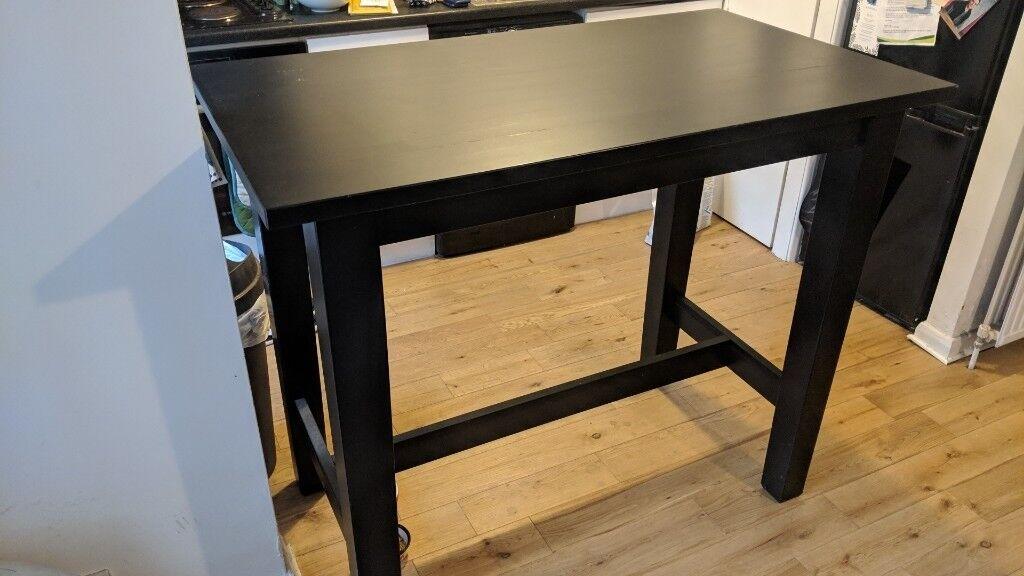 Black Ikea Stornas Bar Table