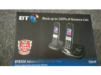 BNIB BT8500 Twin Phones & Answering Machine, Has Call Blocker