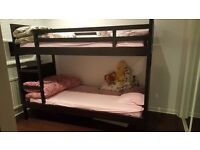Bunk bed frame & Mattresses black-brown