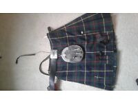 Quality Kilt and Seal Fur Sporran for sale