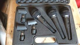 3 Behringer microphones in a case