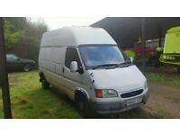 Ford Transit 1996 LONG WHEEL BASE High roof 2.5 Banana engine DELIVERY IN UK