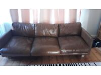 Sofa: vintage brown premium leather, 3 seater, perfect conditions, bought 2 years ago, new was £999