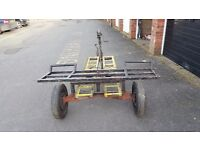 Car towing dolly heavy duty trailer with ramps