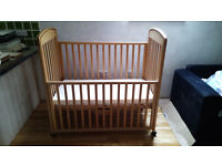 Brio Bedside/Co-sleeper Cot, used, some original parts have been replaced.