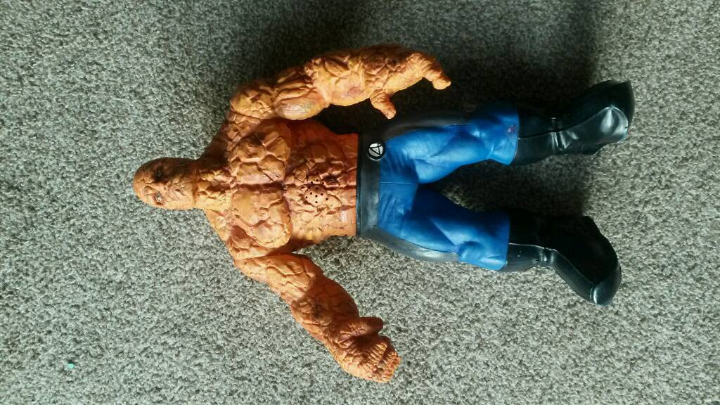 "Thing from Fantastic 4. 14"" talking toy."