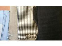 Random fabric pieces