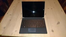 Microsoft Surface 3 with keyboard, stylus & case