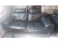 3 seater black leather sofa *FREE*