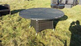 Rattan effect garden table