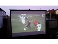 """90"""" projector screeens, brand new in boxes. RRP £149"""