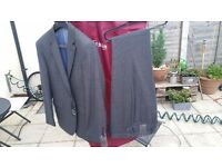 Spitalfields Charcoal Sharkskin 2-Button Slim Fit Suit T.M. LEWIN BRAND NEW WITH TAGS 38S 33W GRAY
