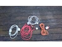 Set of 4 extension leads
