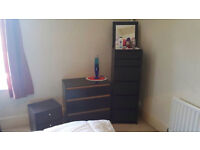 Black IKEA chest of 3 drawers