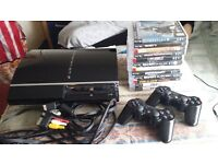 PS3 CONSOLE WITH 12 GAMES!!