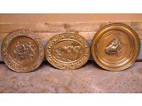 Three Brass wall plates