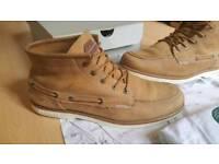 Lacoste Drapeau Light Tan Nubuck Leather Boots UK10