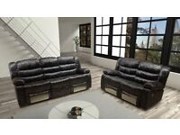 Brand New Candy Crush Recliner Sofa in Black, Chocolate Brown and Star Grey !!Best Offer!!