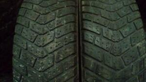 Two Good Year 195 75 14 winter tires.