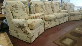 GPLAN 3 seater sofa with 2 armchairs