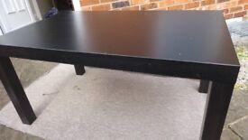 "Ikea ""Lack"" Black Coffee Table"