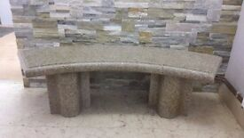 YELLOW GRANITE BENCH