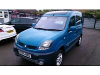 PART X TO CLEAR 2005 RENAULT KANGOO 1.9 DIESEL 4X4 MPV BLUE MOTD ONLY 98K WITH S/HISTORY CD E/W E/M