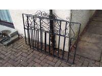 Pair of wrought-iron garden gates - black