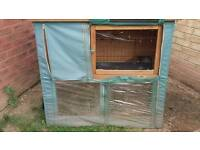 Rabbit Hutch - large 2 levels with rain covers