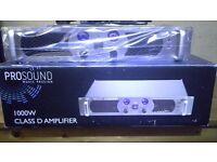 2 Channel 1000W Amplifier with speaker box