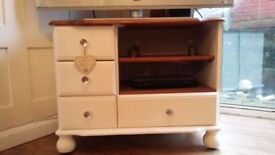 cream tv unit