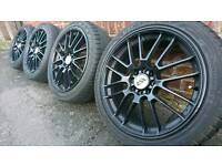 "17"" Ripspeed Atom alloy wheels 4x100 Honda civic Renault Rover Mg Vauxhall astra corsa Bmw mini"
