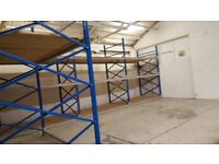 Link Pallet racking (end frames and beams) / shelving / storage 3.20m high