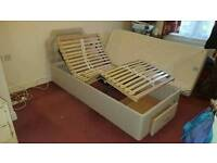 HSL Adjustable Electric disability single bed. Top and bottom rises up