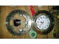 Motorcycle brake disc clock