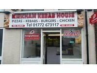 Running fast food takeaway business for sale. Kirkham Kebab House