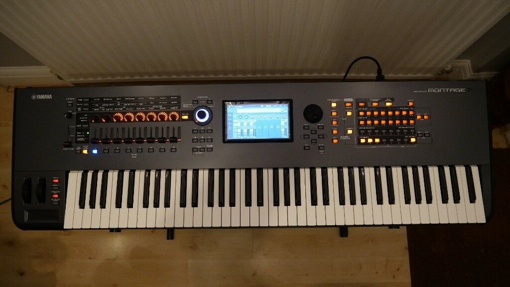 yamaha montage 7 synthesiser like new in carlton. Black Bedroom Furniture Sets. Home Design Ideas