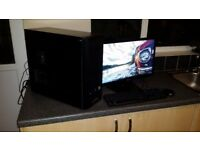 Gaming PC tower. Swap for Gaming laptop! FX 6-core/GTX 660/ 8gb ram 21,5in monitor