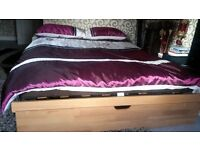 john lewis modern stylish double duvet set same 2 x pillow case purple brown and cream