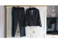 F&F Light Grey Suit with Black Detail size 12