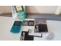 Retro Boxed Rare Nintendo Gameboy Color Console With Games 3ds ps vita