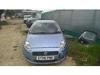 breaking fiat grande punto metalic blue all parts available